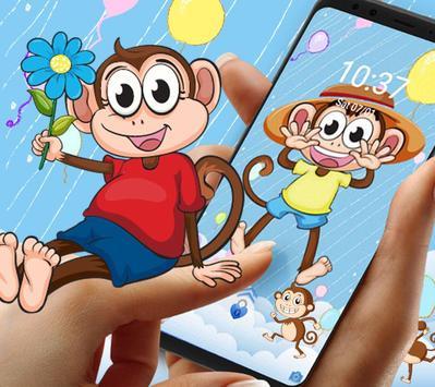 Cute Hat Monkey Theme screenshot 3