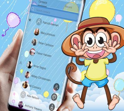 Cute Hat Monkey Theme screenshot 4