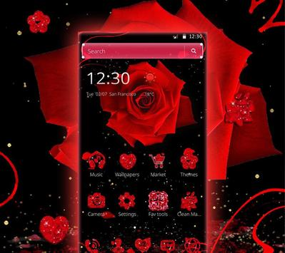 Red Rose Valentine's Day Theme screenshot 2