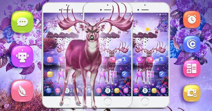 3D dynamic dream elk theme apk screenshot