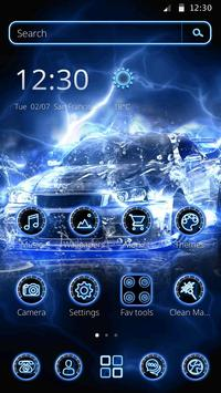 Dynamic Blue Car Theme poster