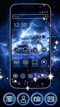 Dynamic Blue Car Theme apk screenshot