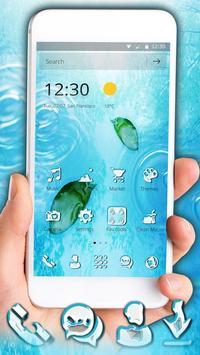 Sprinkling Water Drops Theme apk screenshot