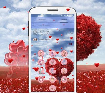 Romantic Valentine's day, a heart shaped love tree apk screenshot