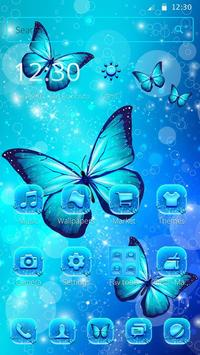 Indigo Neon Butterfly Theme poster