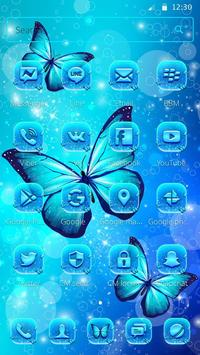 Indigo Neon Butterfly Theme screenshot 1