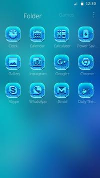 Indigo Neon Butterfly Theme screenshot 2