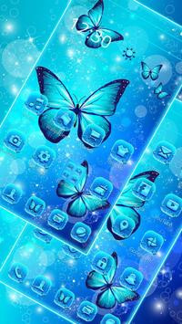 Indigo Neon Butterfly Theme screenshot 3