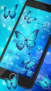 Indigo Neon Butterfly Theme screenshot 4