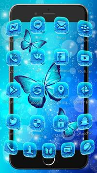 Indigo Neon Butterfly Theme screenshot 5