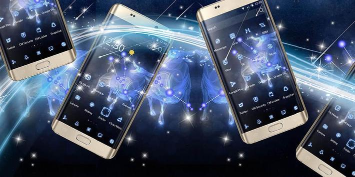 Star fluorescent constellation  phone theme poster