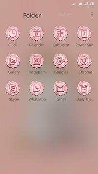 Charming Pink cat Theme screenshot 2