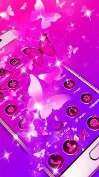Butterfly Purple Theme screenshot 2
