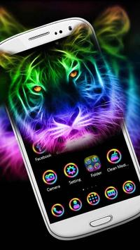 Forest Neon Lion Theme screenshot 1