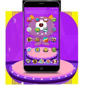Purple Cartoon Monster Octopus Wallpaper Theme icon