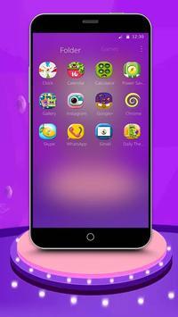 Purple Cartoon Monster Octopus Wallpaper Theme screenshot 2
