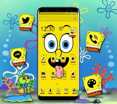 Cute Funny Yellow Cartoon theme screenshot 2