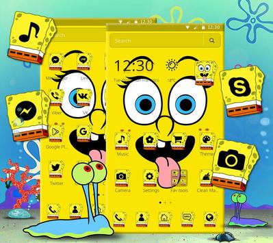 Cute Funny Yellow Cartoon theme screenshot 3