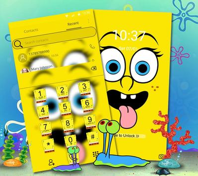 Cute Funny Yellow Cartoon theme screenshot 4