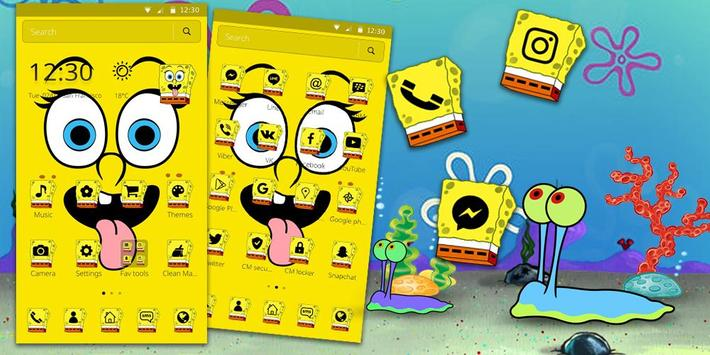 Cute Funny Yellow Cartoon theme screenshot 5