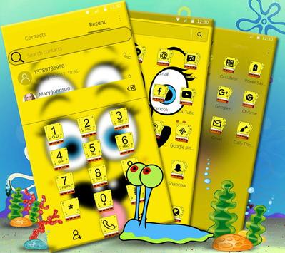 Cute Funny Yellow Cartoon theme screenshot 6