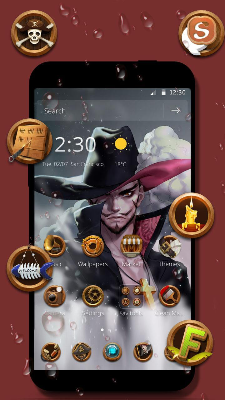 One Piece Dracule Mihawk Wallpaper Theme For Android Apk Download