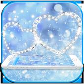 Theme Blue diamond Glitter 4K wallpaper icon
