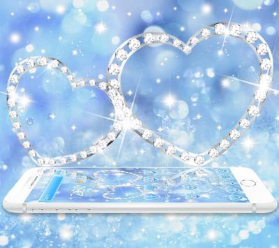 Theme Blue diamond Glitter 4K wallpaper poster