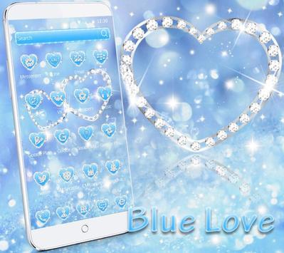 Theme Blue diamond Glitter 4K wallpaper screenshot 1