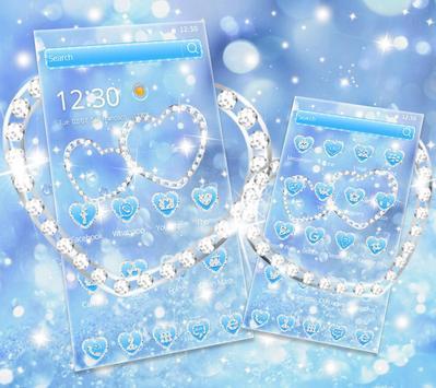 Theme Blue diamond Glitter 4K wallpaper screenshot 2