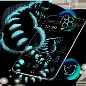 Night Dark Cheshire Kitty Theme icon