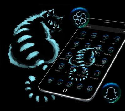 Night Dark Cheshire Kitty Theme screenshot 2