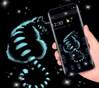 Night Dark Cheshire Kitty Theme screenshot 3