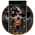Horrific Flaming Skull Theme Icon Packs