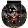 Horrific Flaming Skull Theme Icon Packs ícone