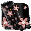 Pink Gold Flower Black Luxury Theme アイコン