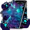 Dunkle Nacht Magic Wolf Theme Zeichen