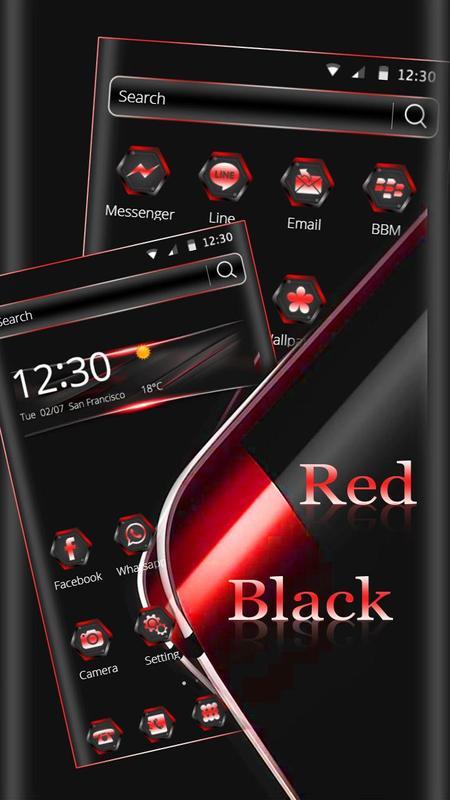 Noir Rouge Thème Wallpaper Pour Android Téléchargez Lapk