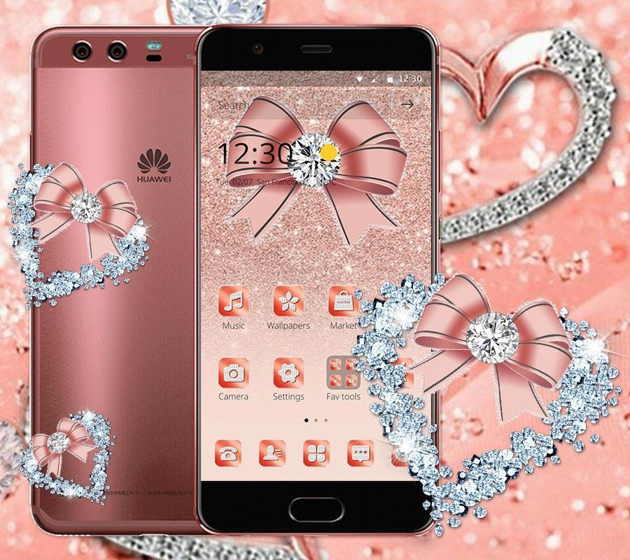 Rose Gold Glitter Diamond Theme For Android Apk Download