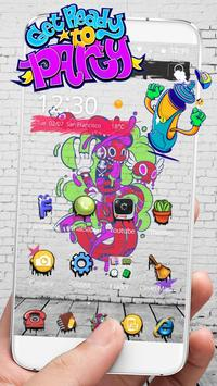 Party graffiti Theme 4k Graffiti Wallpaper poster