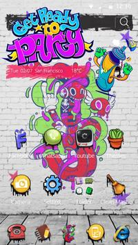 Party graffiti Theme 4k Graffiti Wallpaper screenshot 2