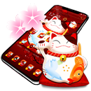 Cute Fortune Beckoning Cat Theme APK