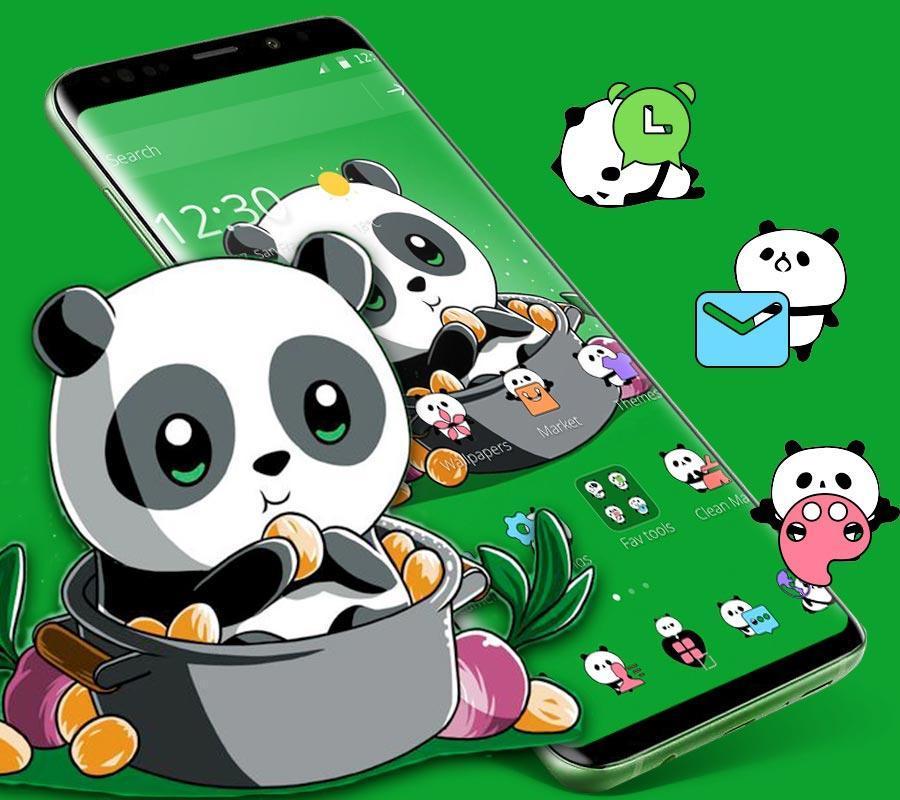 Android 用の Cute Anime Green Panda Theme APK をダウンロード  Android 用の ...