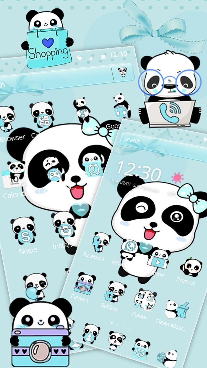 Biru Cinta Panda Tema For Android APK Download