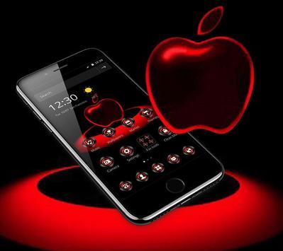 Red Neon Apple Dark Theme screenshot 2