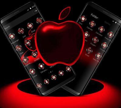 Red Neon Apple Dark Theme screenshot 3