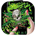 Green Weed Skull Theme