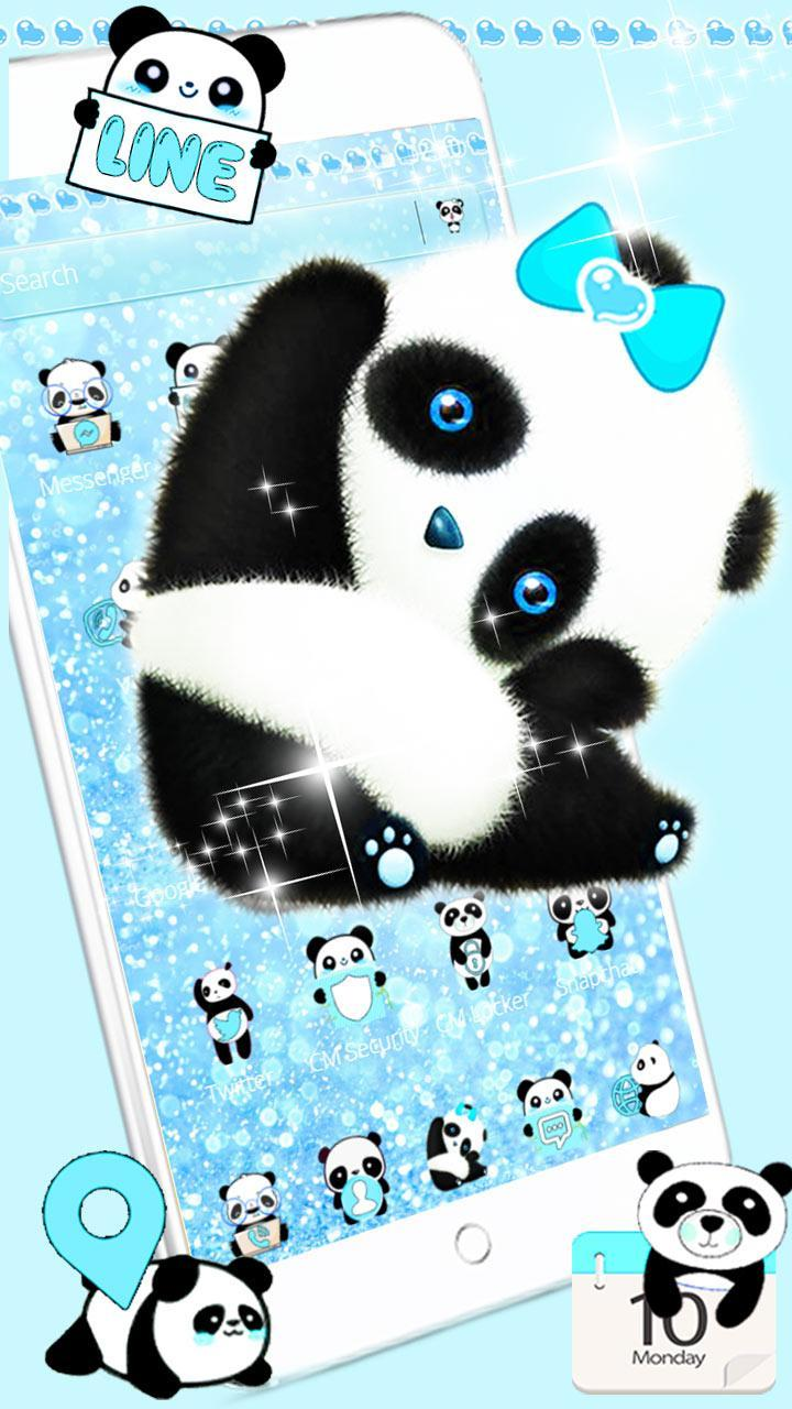 Blue Panda Cute Theme For Android APK Download