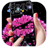 Pink Glitter Lips Theme 아이콘
