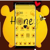 Cuteness Yellow Pooh Bear Theme アイコン